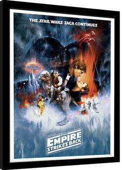 Star Wars: The Empire Strikes Back - One Sheet Poster Emoldurado