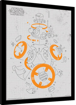 Star Wars The Last Jedi – BB-8 Exploded View Poster Emoldurado