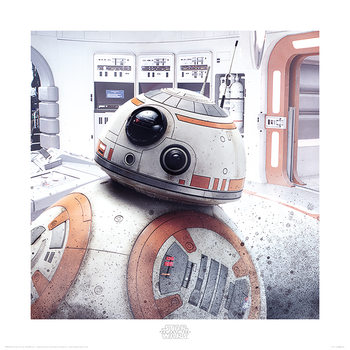 Reprodução do quadro  Star Wars The Last Jedi - BB-8 Peek