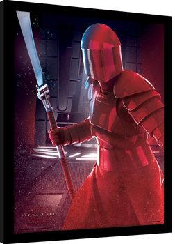 Star Wars The Last Jedi - Elite Guard Blade Poster Emoldurado
