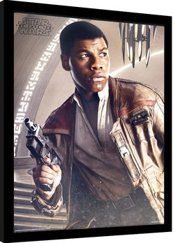 Star Wars The Last Jedi - Finn Blaster Poster Emoldurado