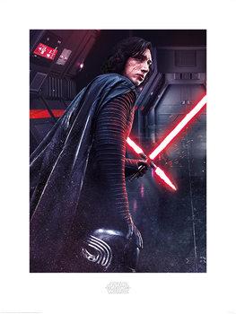 Reprodução do quadro Star Wars The Last Jedi - Kylo Ren Rage