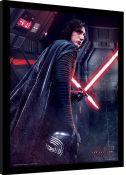 Star Wars The Last Jedi - Kylo Ren Rage Poster Emoldurado