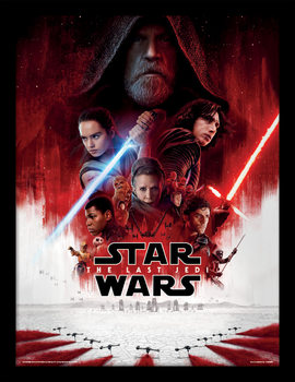 Star Wars The Last Jedi - One Sheet Poster Emoldurado