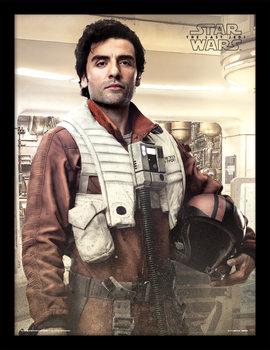 Star Wars The Last Jedi – Poe Battle Ready Poster Emoldurado