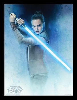 Star Wars The Last Jedi - Rey Lightsaber Guard Poster Emoldurado