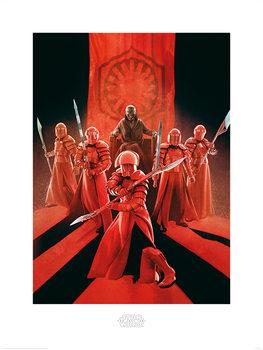 Reprodução do quadro Star Wars The Last Jedi - Snoke & Elite Guards