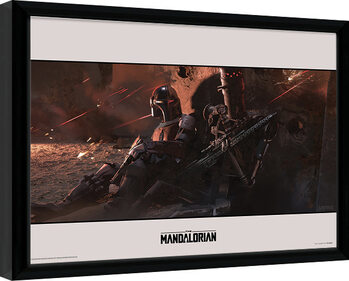 Star Wars: The Mandalorian - Cover Poster Emoldurado