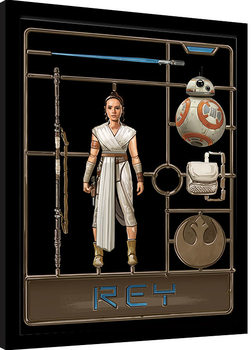 Star Wars: The Rise of Skywalker - Rey Model Poster Emoldurado