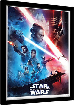 Star Wars: The Rise of Skywalker - Saga Poster Emoldurado