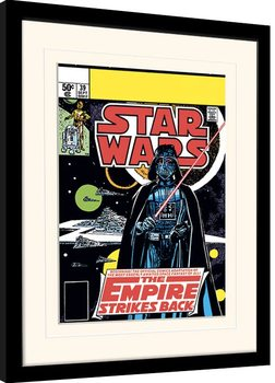Star Wars - Vader Strikes Back Poster Emoldurado