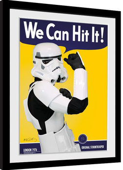 Stormtrooper - Can Hit Poster Emoldurado