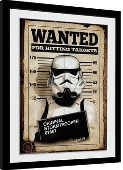 Stormtrooper - Mug Shot Poster Emoldurado