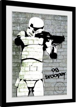 Stormtrooper - Spray Poster Emoldurado