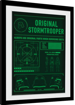 Stormtrooper - Technical Readout Poster Emoldurado