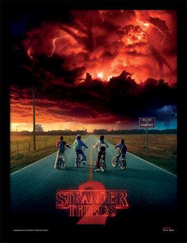 Stranger Things - Mind Flayer Poster Emoldurado