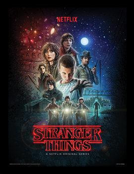 Stranger Things - One Sheet Poster Emoldurado