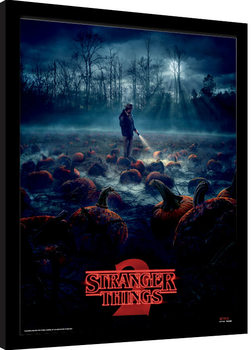 Stranger Things - Pumpkin Patch Poster Emoldurado