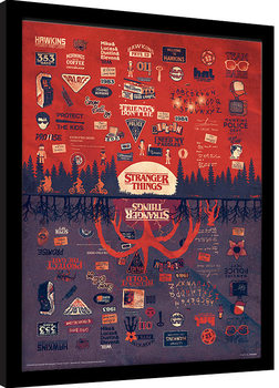Stranger Things - The Upside Down Poster Emoldurado