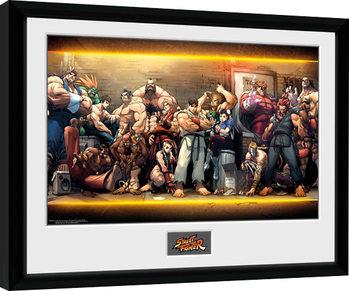 Street Fighter - Characters Poster Emoldurado