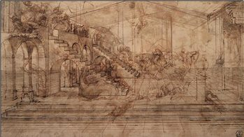 Reprodução do quadro  Study of The Adoration of the Magi
