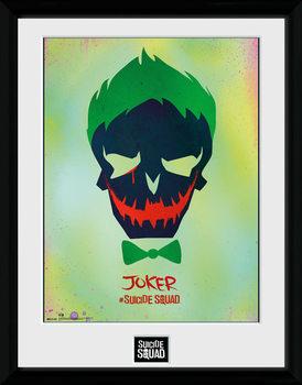 Suicide Squad - Joker Skull Poster Emoldurado