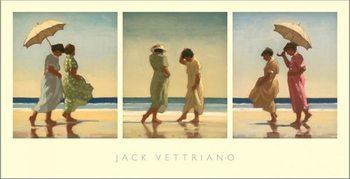 Reprodução do quadro  Summer Days Triptych