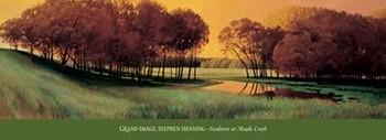 Reprodução do quadro Sundown At Maple Creek