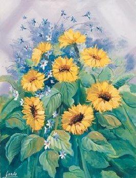 Reprodução do quadro  Sunflowers