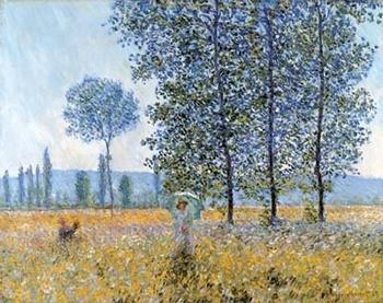 Reprodução do quadro Sunlight Under The Poplars