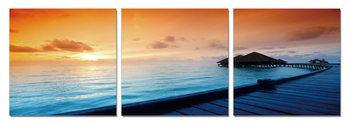 Quadro Sunrise over the beach