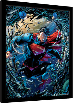 Superman - Unchained Poster Emoldurado