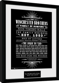 Supernatural - Family Business Poster Emoldurado