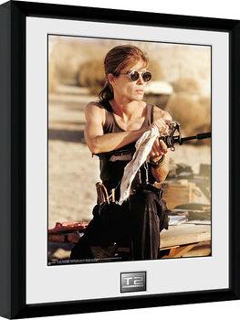Terminator 2 - Sarah Connor Poster Emoldurado