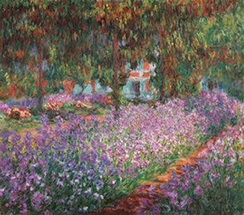 Reprodução do quadro The Artist's Garden at Giverny, 1900