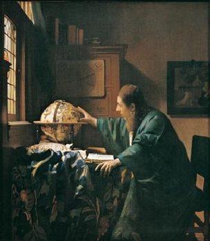 Reprodução do quadro The Astronomer, 1668