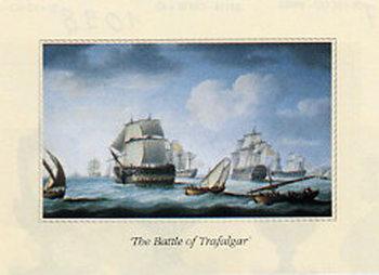 Reprodução do quadro The Battle of Trafalgar