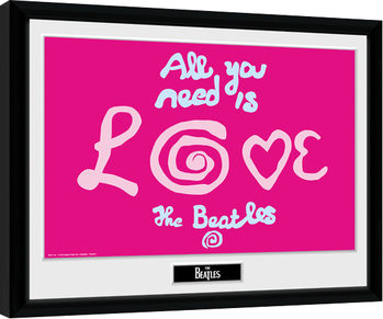 The Beatles - All You Need Is Love Poster Emoldurado