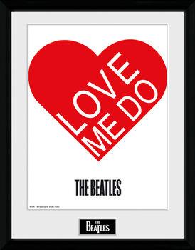 The Beatles - Love Me Do Poster Emoldurado