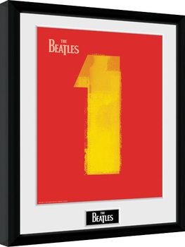 The Beatles - No1 Red Poster Emoldurado