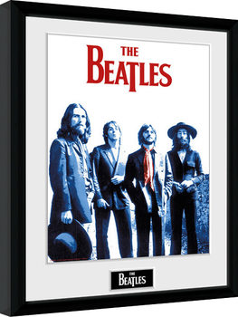 The Beatles - Red Scarf Poster Emoldurado