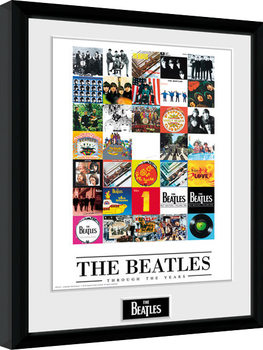 The Beatles - Through The Years Poster Emoldurado