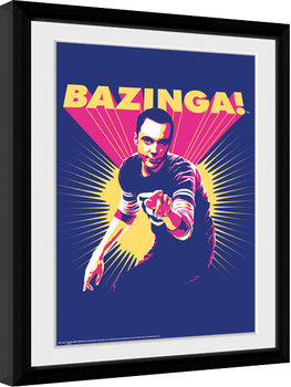 The Big Bang Theory - Bazinga Poster Emoldurado
