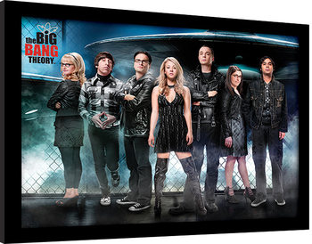 The Big Bang Theory - UFO Poster Emoldurado