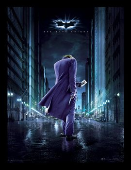 The Dark Knight - Joker City Poster Emoldurado