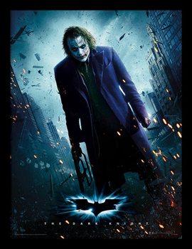 The Dark Knight - Joker Gun Poster Emoldurado