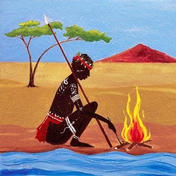 Reprodução do quadro The Fire