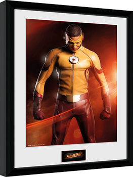 The Flash - Kid Flash Poster Emoldurado