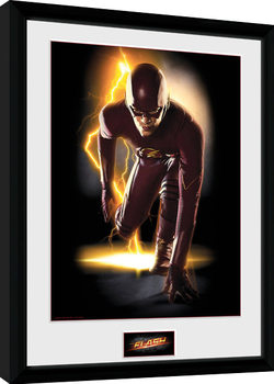 The Flash - Speed Poster Emoldurado