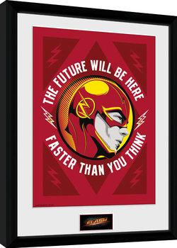 The Flash - The Future Poster Emoldurado
